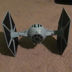 A star wars tie fighter toy ship